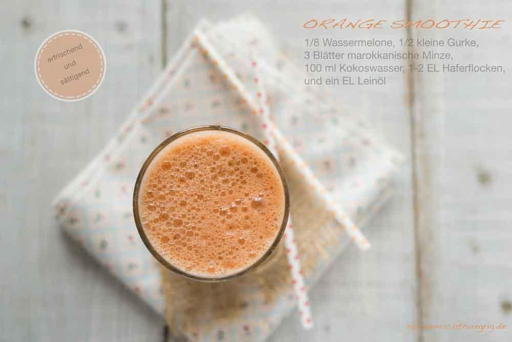 Orange-Smoothie - ein Sommergetränk