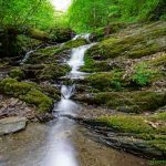 Der Pulsbach als kleiner Wasserfall