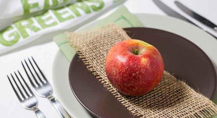 Ernährungsinfos - Apel auf einem Teller