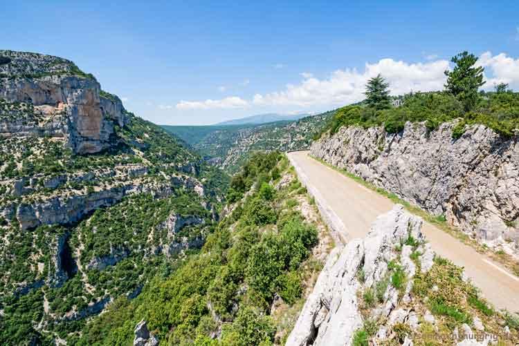 Blick in die Gorges de la Nesque