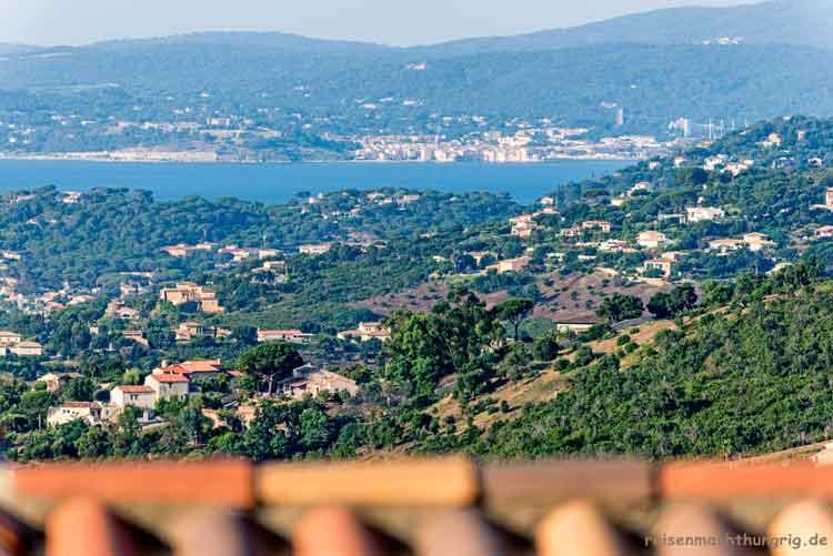 Côte d'Azur - St_Tropez aus der Ferne