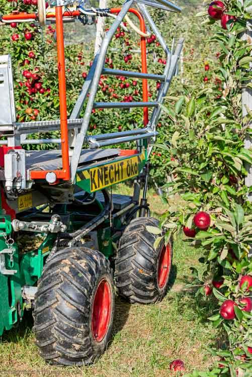 Apfelerntehelfer in Form einer Maschine