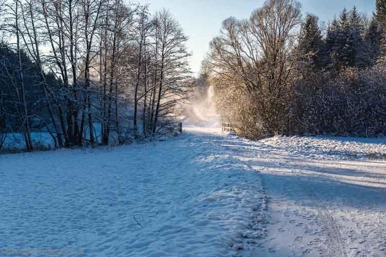 Schneeverwehung