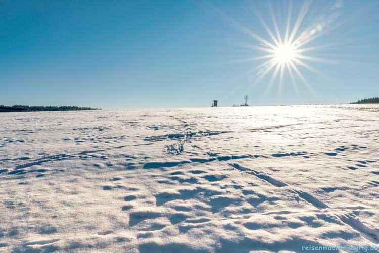 Schneebedeckte Höhenlagen