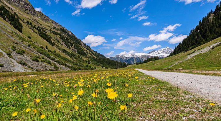 Vom Golm ins Garneratal, Blick ins Tal