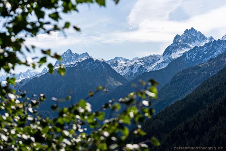 Vom Golm ins Garneratal, Bergblick