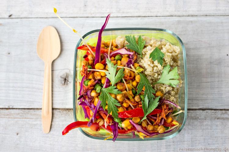 Bunter Salat zum Mitnehmen