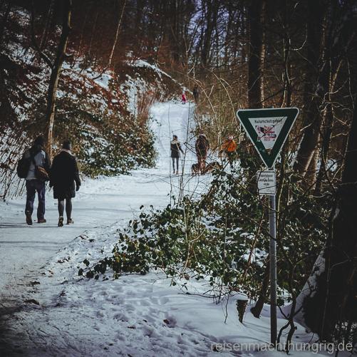 Wanderweg im Naturschutzgebiet